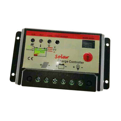 10 Amp 10A PWM Smart Battery Charge Controller 12V/24V Solar Panel Regulator
