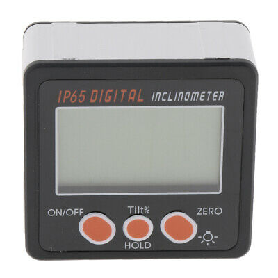 Digital Inclinometer Protractor Angle Gauge Level with Green Backlight IP65