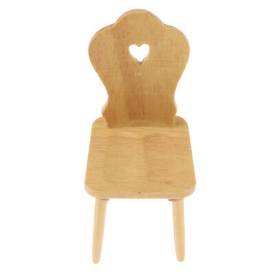 Dollhouse Miniatures Wooden Mini Chair for 1:12 Scale Doll Room Accessories