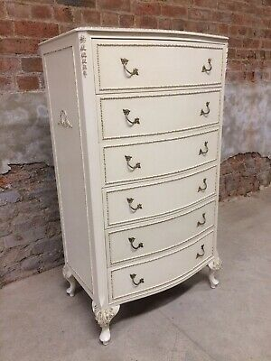 Vintage French Louis XV Style 6 Drawer Chest Of Drawers