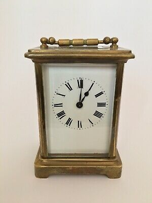 beautiful antique french acc brass carriage clock