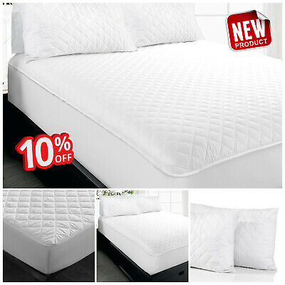 Quilted Extra Deep Microfiber Mattress Protector Non Allergic Fitted Bed Covers