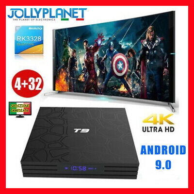 T9 PRO Android Box 8.1 4GB 32GB Quad Core 4K 60fps WiFi Smart TV KODI
