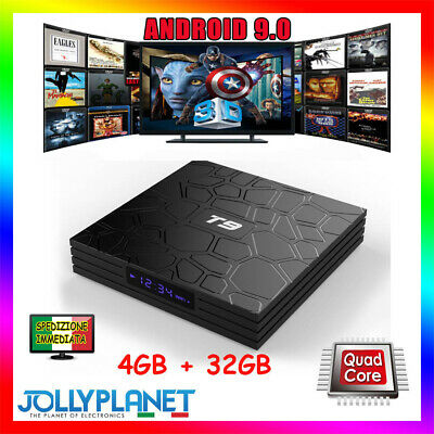 T9 PRO 4GB 32GB Android 8.1 QUAD CORE 4K 60fps WiFi Smart TV Box Bluetooth