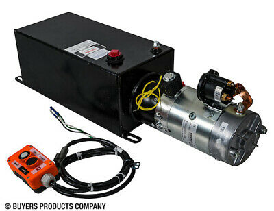 BUYERS PU319LRS 3-Way DC Power Unit with 1.50 Gal Steel Res Electric Control