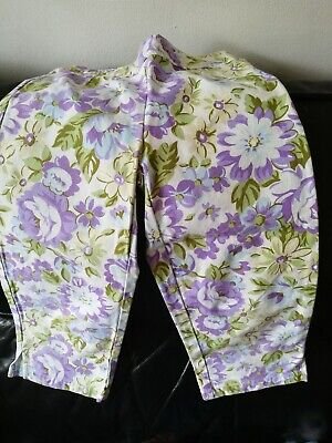 Mini Boden Girls jeans Leggings 3/4 cropped trousers 7-8  Flower Print unworn