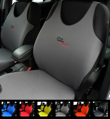 2 Grey Car Seat Covers For Peugeot 104 106 107 108 204 205 206 207 208 2008