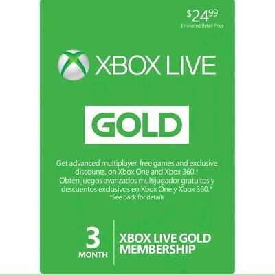 Microsoft Xbox Live 3 Month Gold Membership (Digital Delivery)