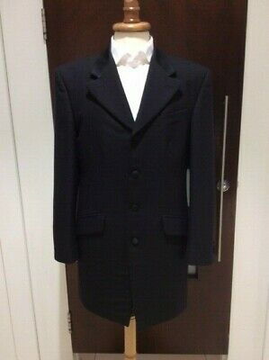 Magee Clothing Black Prince Edward 3/4 Length Wool EX HIRE Stock Good Condition