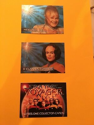 Lot Of Star Trek Yoyager Insert/Promo Cards
