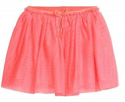 BNWT Girls H&M party bright neon pink coral tutu tulle skirt size 6-8 years