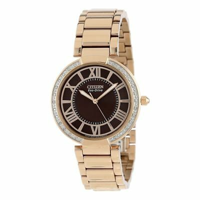 Citizen Eco-Drive Women's d'Orsay Diamond Accents Rose Gold Watch EM0103-57X
