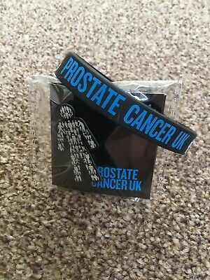 🎱 NEW MEN UNITED Prostate Cancer UK Pin Badge + Wristband