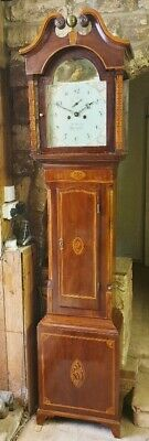 A superb Georgian Mahogany & Inlaid Grandfather Longcase Tallcase Clock C1810