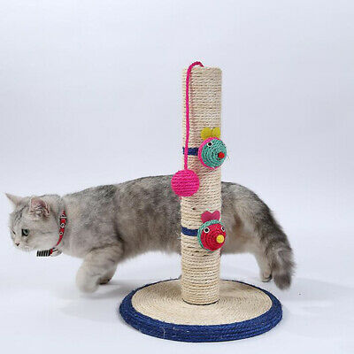 High Sisal Durable Pet Cat Toys Safe Scratch Board with Hanging Ball