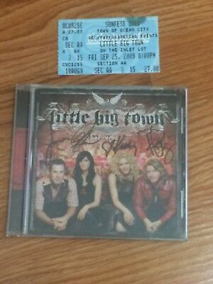 Signed Little Big Town A Place to Land Autographed CD Booklet With Ticket Stub