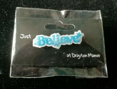 Drayton Manor Theme Park Official 'BELIEVE' Pin Badge In Original Packaging