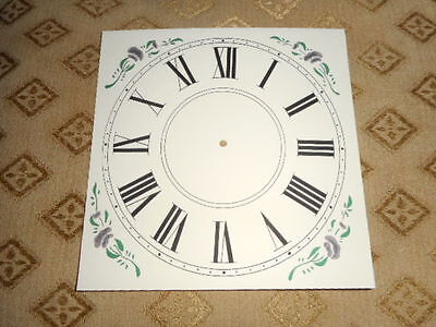"Mantle / Shelf Paper Clock Dial - 5"" M/T-MATT CREAM-Corner Designs-Parts/Spares#"