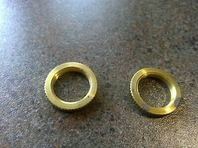 """Solid Brass Knurled Nut 7/8"""" OD. 3/8"""" IPS (1/2"""" Diameter) Lamp Part a-22"""