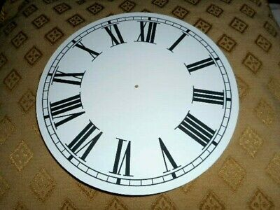 "Round Paper Clock Dial - 8 1/2"" M/T - Roman - MATT WHITE -Face / Parts/Spares"