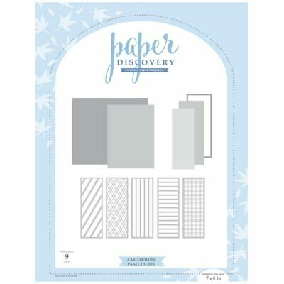 Paper Discovery Die Set Card Builder Panels | Set of 9