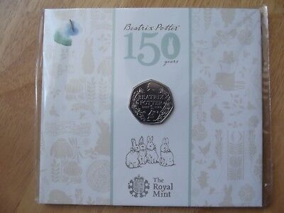 150th Anniversary Beatrix Potter 50p Coin BUNC by The Royal Mint