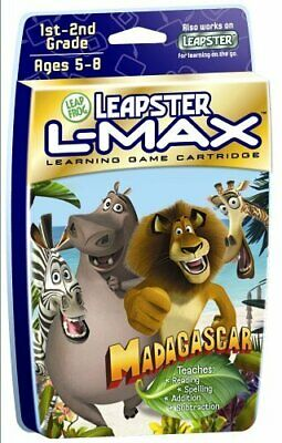 Leapster Leap Frog L Max Madagascar Game CART ONLY Fast shipping Game !