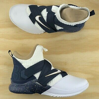 c0c0c8162241f Nike Lebron Soldier XII SFG Navy Blue White Basketball Shoes AO4054-100 Size