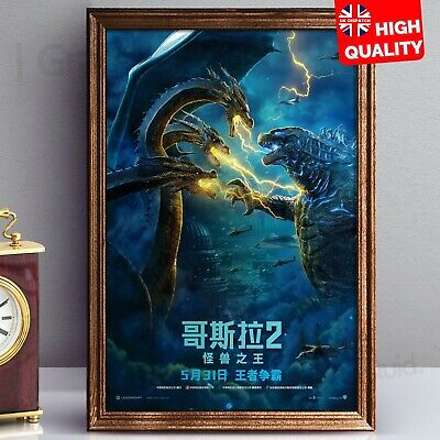 Godzilla King Of Monsters 2019 Movie Poster Chinese Style Art | A4 A3 A2 A1 |