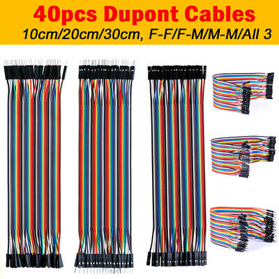40pcs Male To Female Dupont  Wire Line Jumper Cable Breadboard Arduino