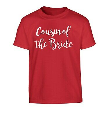 Cousin of the bride, kid's t-shirt wedding bridal shower hen party family 2982