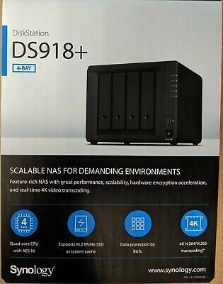 SYNOLOGY DISKSTATION DS918+ 4 Bay Diskless NAS Quad Core CPU