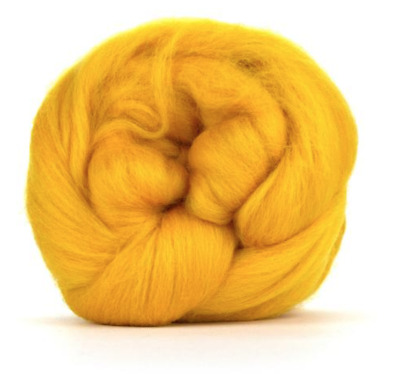 50g 100/% Natural Wool Roving Needle Spinning Felting Sewing Craft Fabric Trimits