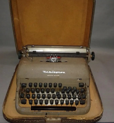 419- Antigua Maquina Escribir ( Portatil) Remington Tab Miracle Office Riter