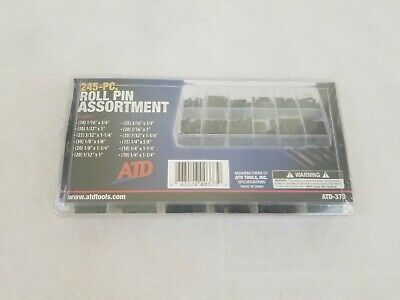 """1//4/"""" ATD Tools 373 FREE SHIPPING Roll Pin Assortment 1//16/"""" 245 Pc"""