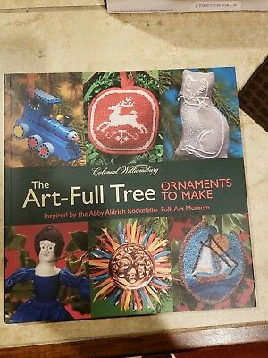 """Christmas Ornament Book Coffee Table """"The Art Full Tree"""" Colonial Williamsburg"""