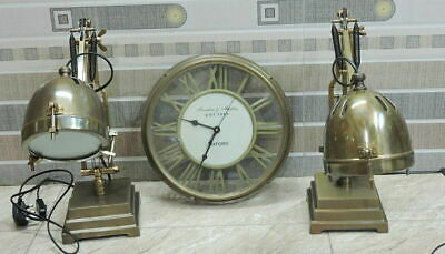 Antiques desk lamps & Victorian table lights home bedside & office Deco SET OF 2