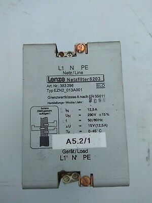 Lenze EZN2-013A001 Inverter line input choke 1phase 12.5amps ART NO 383 296