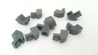 A279 Used Blue Grey Technic Lego 1 x 2 Brick with Single Connecter 10x Dark