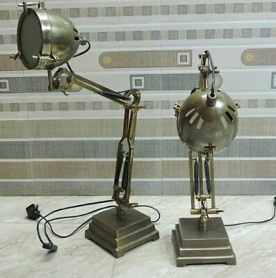 LED Antique Table Lamp with Brown Finish SET OF 2