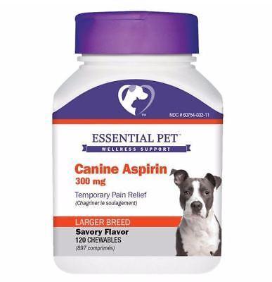 21st Century Essential Pet Canine Aspirin 300 mg For Larger Dogs 120 Chewables