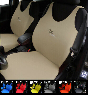 2 Beige Car Seat Covers For Mercedes A B Class Gla Cla (Shooting Brake)