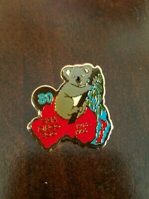 San Diego Zoo 80th Anniversary Koala Lapel or Hat Pin/Tie Tack