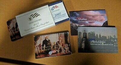 2007 Proof & Uncirculated Annual US Mint Coin Sets PDS w/ Extra 2007 Presidental