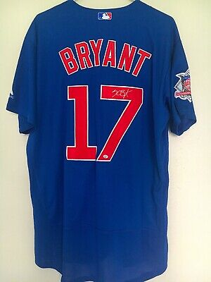 a525015fb Kris Bryant Chicago Cubs Signed Majestic MLB Authentic Collection Jersey COA
