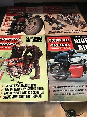 Motorcycle Mechanics Scooter & Three Wheeler Magazines 1960's X 4