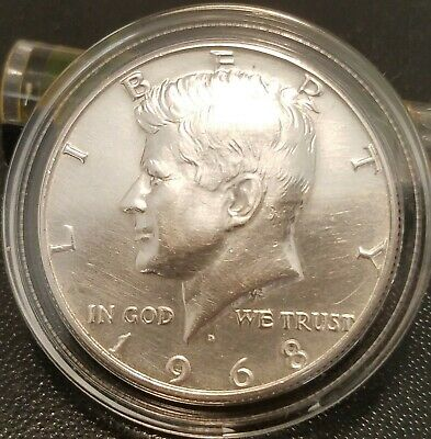 1968-D Kennedy Half Dollar--In Great Condition from Original Roll! BRILLIANT!!
