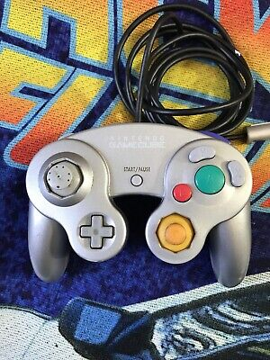 Silver Official Nintendo GameCube Controller Authentic Tested Cube Pad