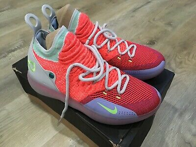 79c56d0562cd NIKE ZOOM KD 11 EYBL Peach Jam Hot Punch AO2604-600 Size 10 ...
