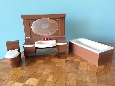 Bad Waschtisch Toilette  Modella Puppenstube Puppenhaus 1:12 dollhouse bath